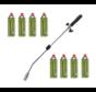 Unkrautbrennerset mit 8 Kemper Gasflaschen