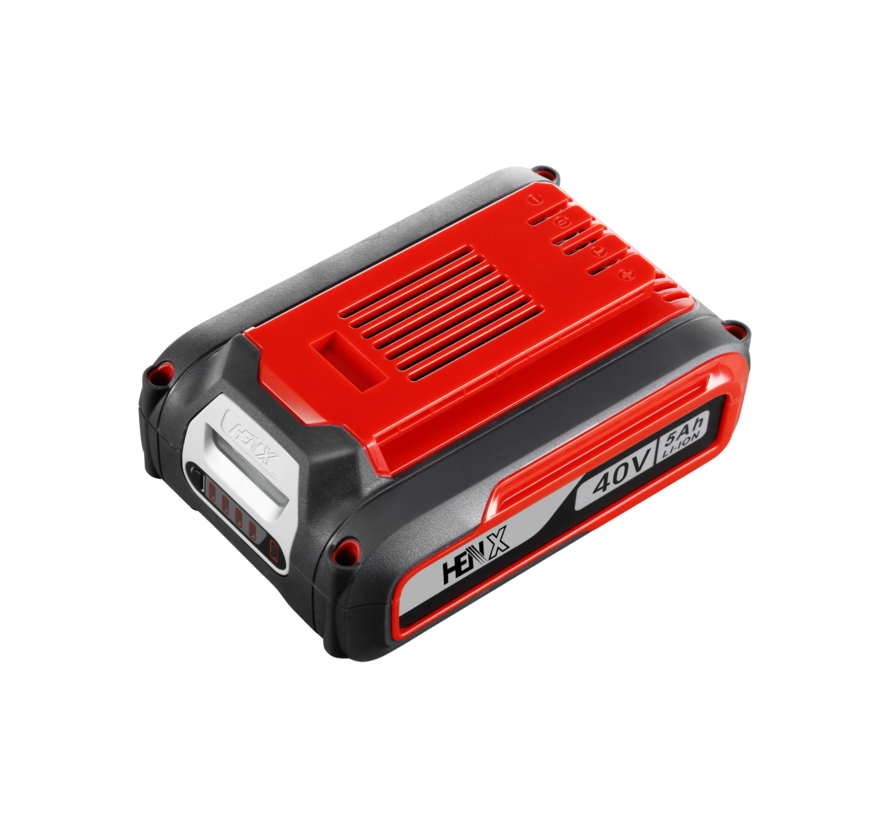 40V Henx Motorsäge + 5.0 Accu & Schnelladegerät