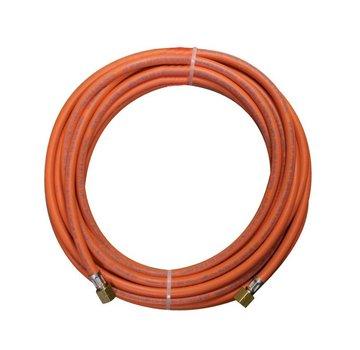 CFH Tuyau de gaz en caoutchouc d'une longueur de 5 mètres avec raccords de tuyau de gaz 3/8