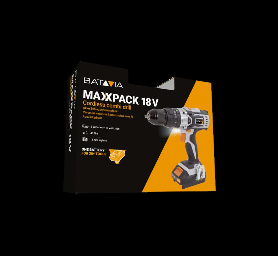 Batavia Klopboor 18v maxxpack starter set
