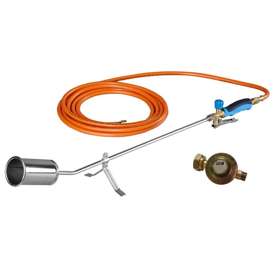 GV900 Désherbeur thermique  avec détendeur et tuyau de gaz 5 m