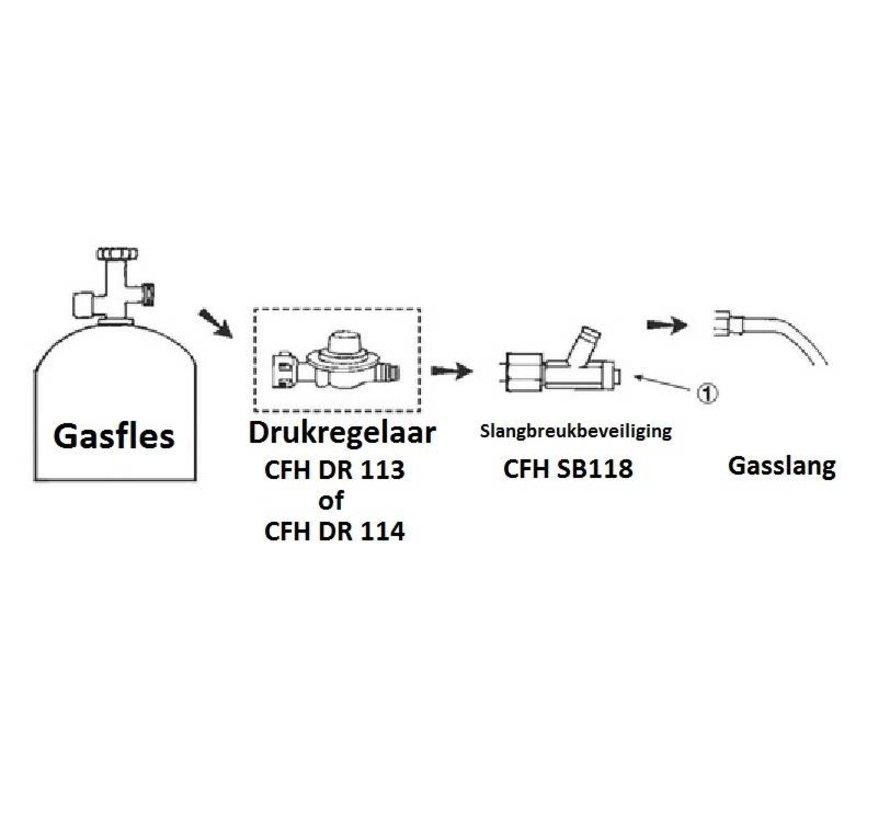 SB 118 Schlauchbruchsicherung - Hochdruckschlauch Schutz