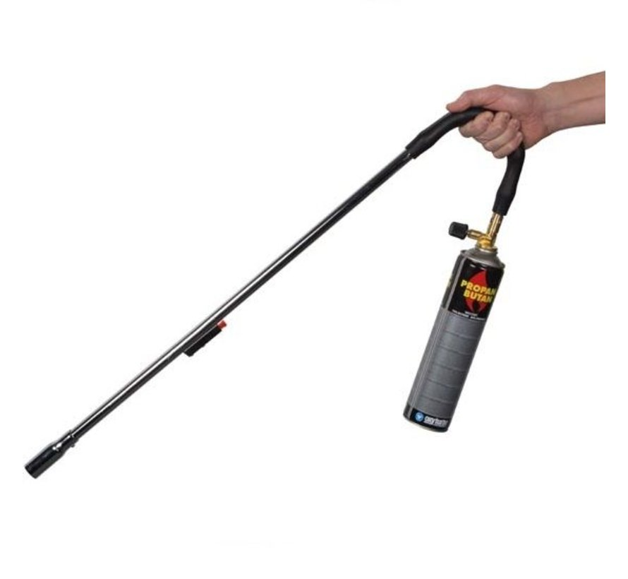 Bioflame Gas weed burner with Piezo ignition and 1x 600 ml gas cylinder