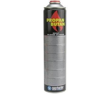 Oxyturbo Cartouche de gaz universelle 600 ml pour désherbeur thermique et brûleur à gaz