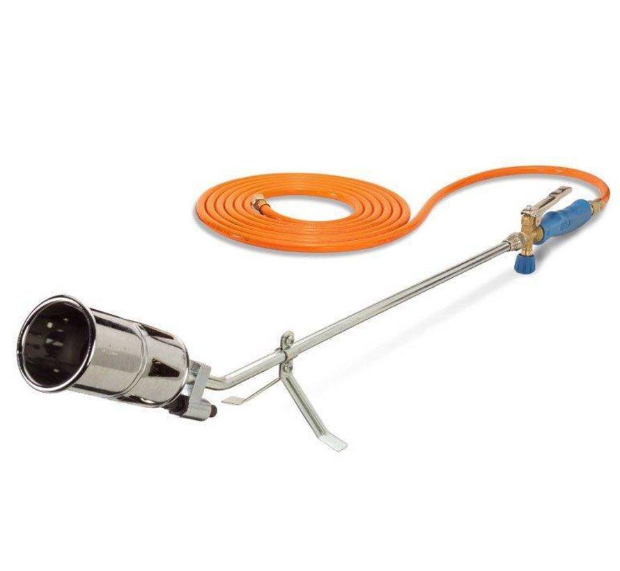 PZ6000 onkruidbrander met Piezo ontsteking en 10 meter gasslang