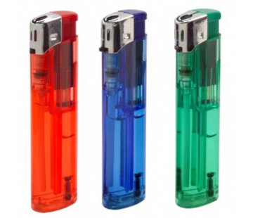 CFH 3x Refillable lighters with Piezo ignition, assorted colours