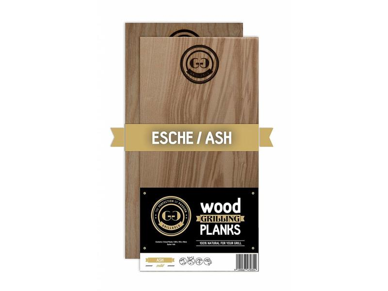 GRILLGOLD Grillgold Räucherbrett Wood Grilling Planks 2er Set Esche