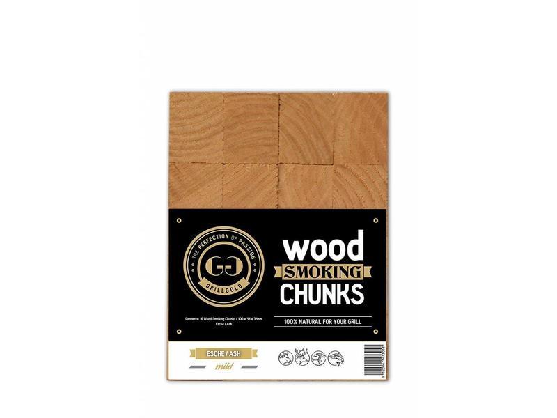 GRILLGOLD Grillgold Räucherholz 16 Wood Smoking Chunks Esche