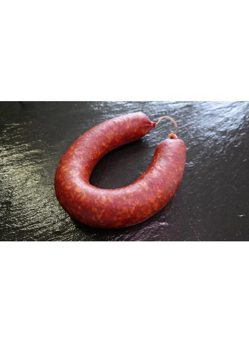 Rinderwurst im Ring frisch geräuchert