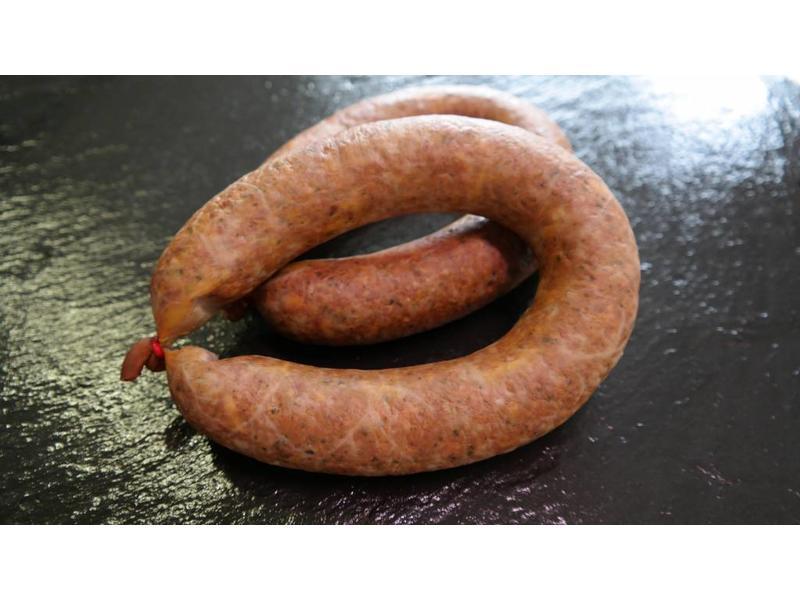 Leberwurst im Ring / Hausmacher grobe frisch geräuchert