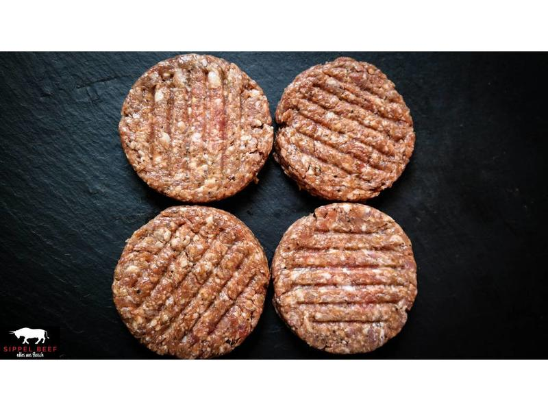KLAUS GRILLT BACON SALSICCIA BURGER PATTIES 4 x 180g