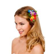 Haarclip hawaii bloem multi