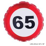 Folie ballon leeftijd 65
