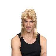 Pruik Jens met matje blond
