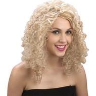 Pruik Curly Stephie in blond