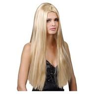 Pruik extra lang haar klassiek in blond