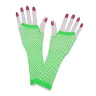 Vingerloze lange net-handschoenen neon groen