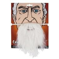 Witte baard met snor