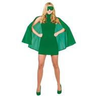 Super Hero Cape met masker in groen