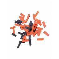 Confetti kanon Halloween zwart/oranje