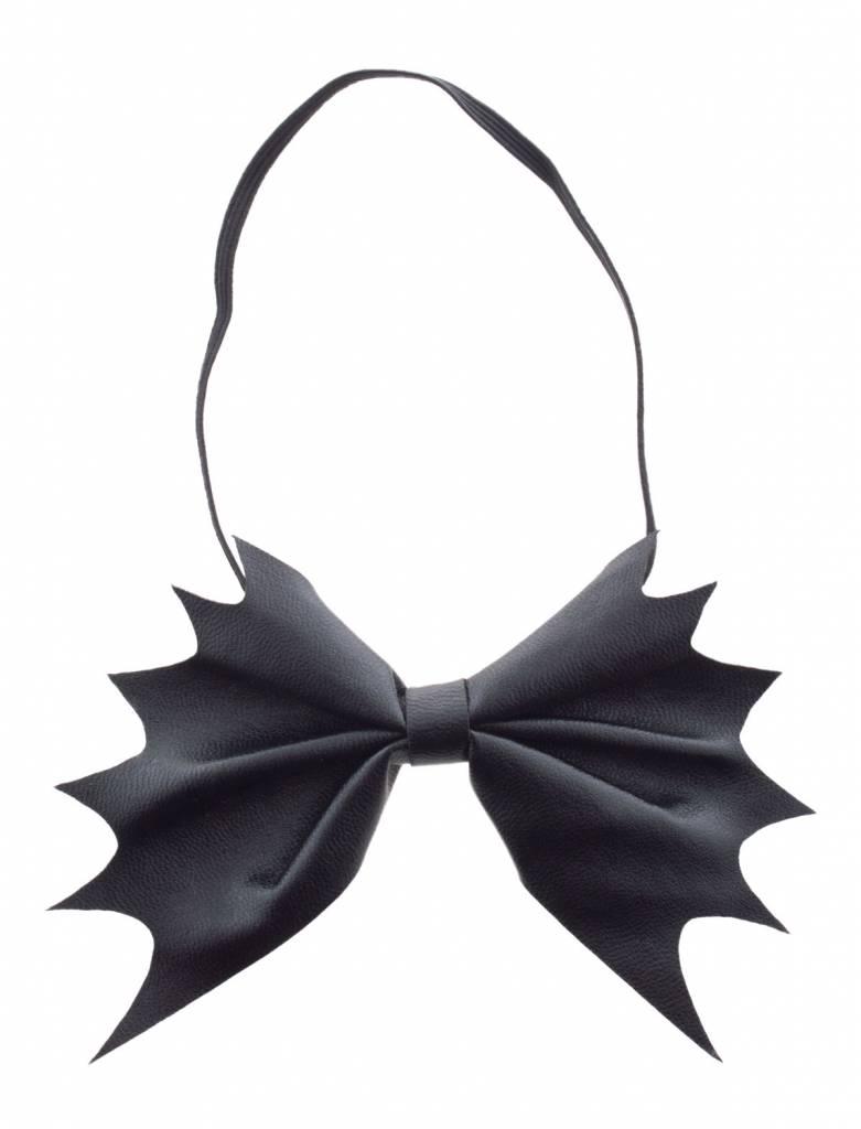 Mooi vleermuis strikje in de kleur zwart