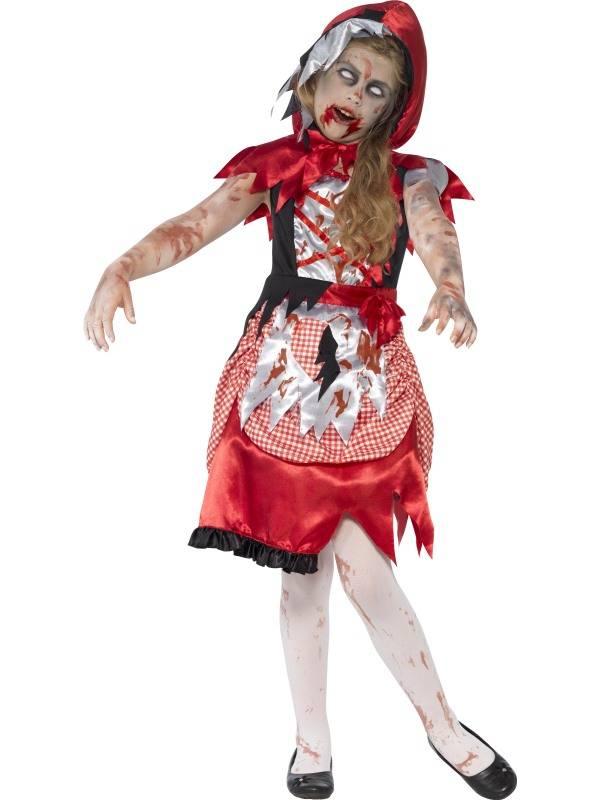 Griezelig zombie roodkapje kostuum