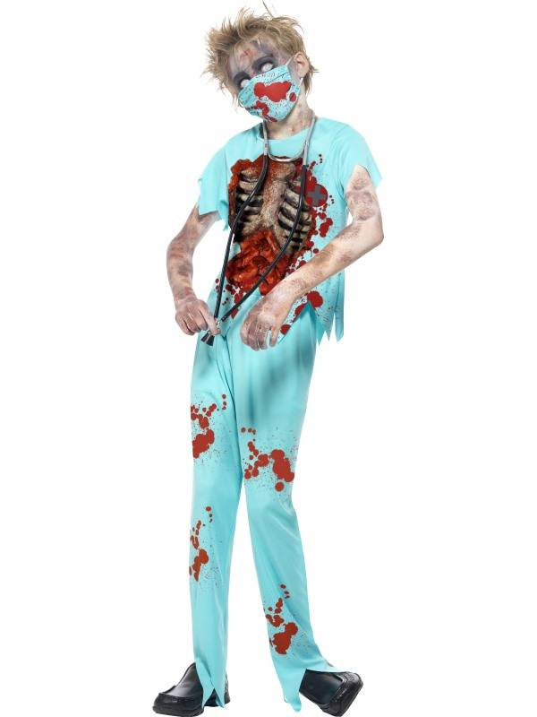 Griezelig zombie chirurgen kostuum