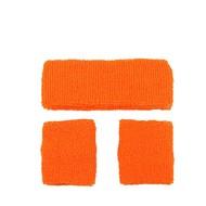 Zweetbanden set neon oranje