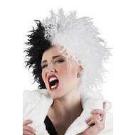 Pruik Cruella black white
