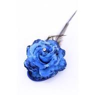 Bloemen speld blauw