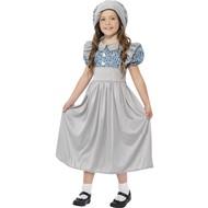 Victoriaans schoolmeisje kostuum