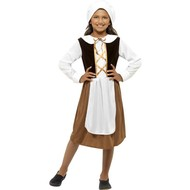 Middeleeuws Engels kamermeisje kostuum