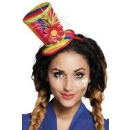 Regenboog hoedje op tiara