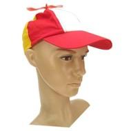 Baseball cap propeller rood/wit/geel