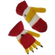 Vingerloze handschoenen rood/wit/geel