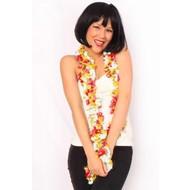 Boa sjaal rood/wit/geel Oeteldonk