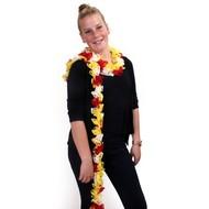Sjaal boa rood/wit/geel 150 cm