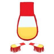 Set schouder epauletten rood-wit-geel gestreept Oeteldonk