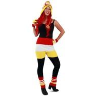 Gebreide hotpants Oeteldonk rood/wit/geel