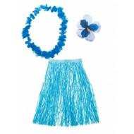 Hawaii verkleed set Aloha blauw