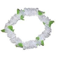 Hawaii bloemenkrans wit