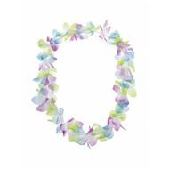 Hawaii bloemenslinger pastelkleuren
