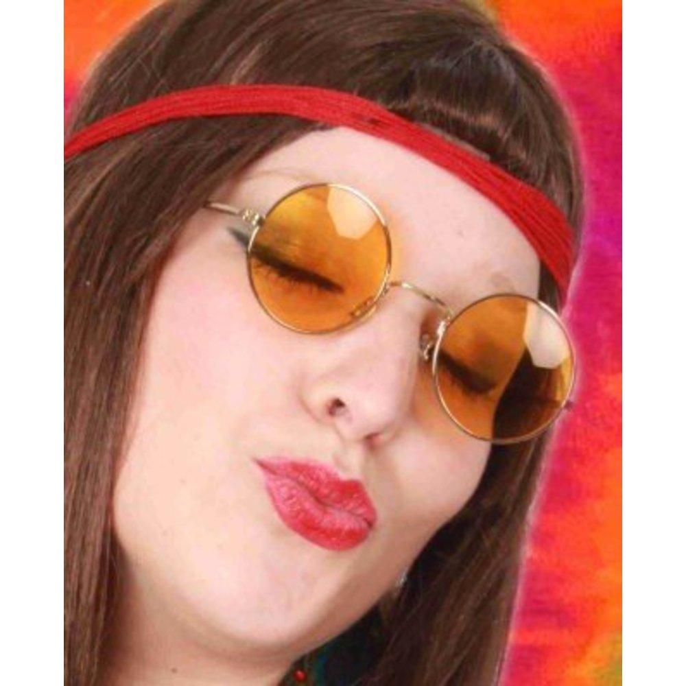 932849327db336 Lennon of hippie bril in de kleur geel
