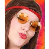 Gele hippie bril