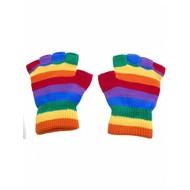 Vingerloze regenboog handschoenen