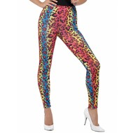 Legging in panter print neon kleuren