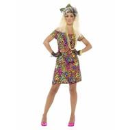 Party regenboog jurk in neon kleuren