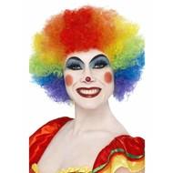 Regenboog pruik gekke clown
