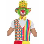 Clown verkleed set regenboog kleuren