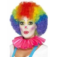 Roze rimpelkraag clown